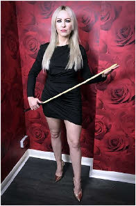Watford domme loves to deliver the cane