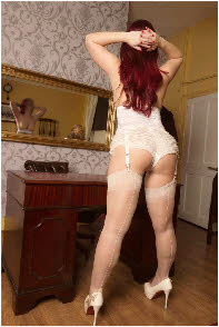Manchester spankee in white knickers and stockings