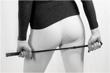 London domme Miss Linda brandishes riding crop for hard CP