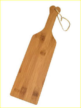Spankiing paddle for reddening cheeks