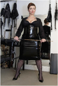 Dominant London Mistress spanks naughty boys and sissies